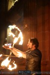 Fire performer at Merchants Square
