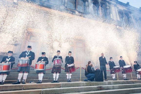 Pipeband and Fireworks
