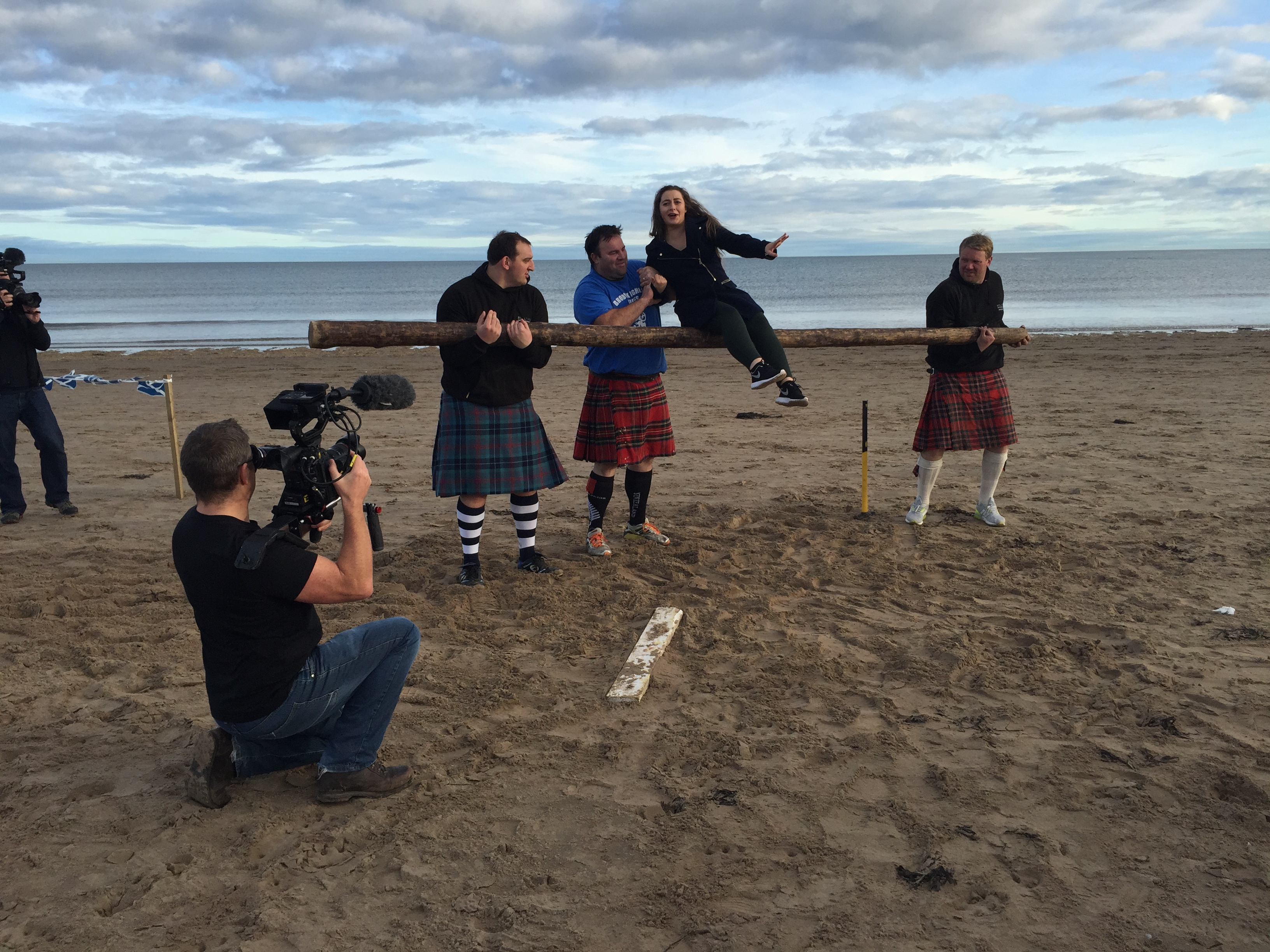 Fun on St Andrews beach at Visit Scotland Highland Games