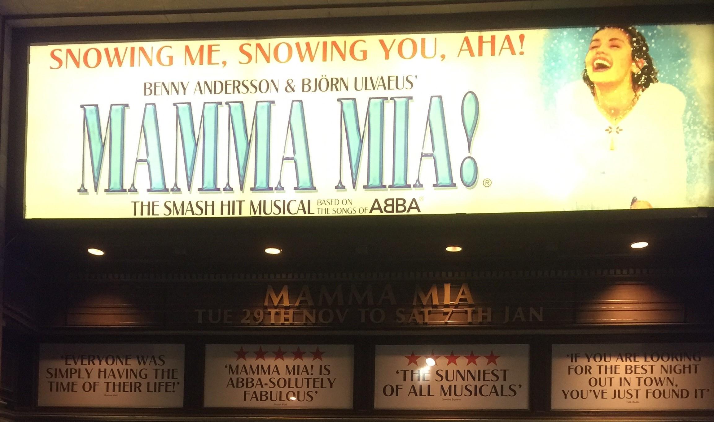 Press Launch of smash hit musical Mama Mia! at Edinburgh Playhouse, Scotland