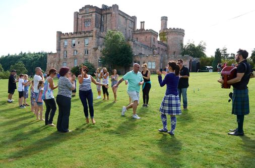 Ceilidh Dancing at Highland Games experience