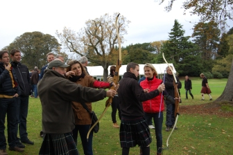 Archery at Highland Games Team building event